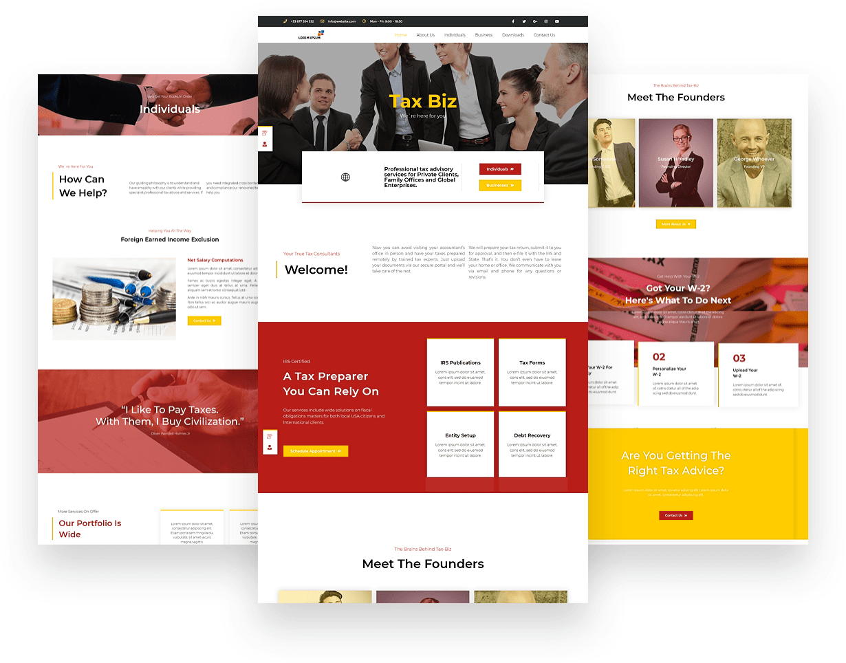Tax Business Website Design
