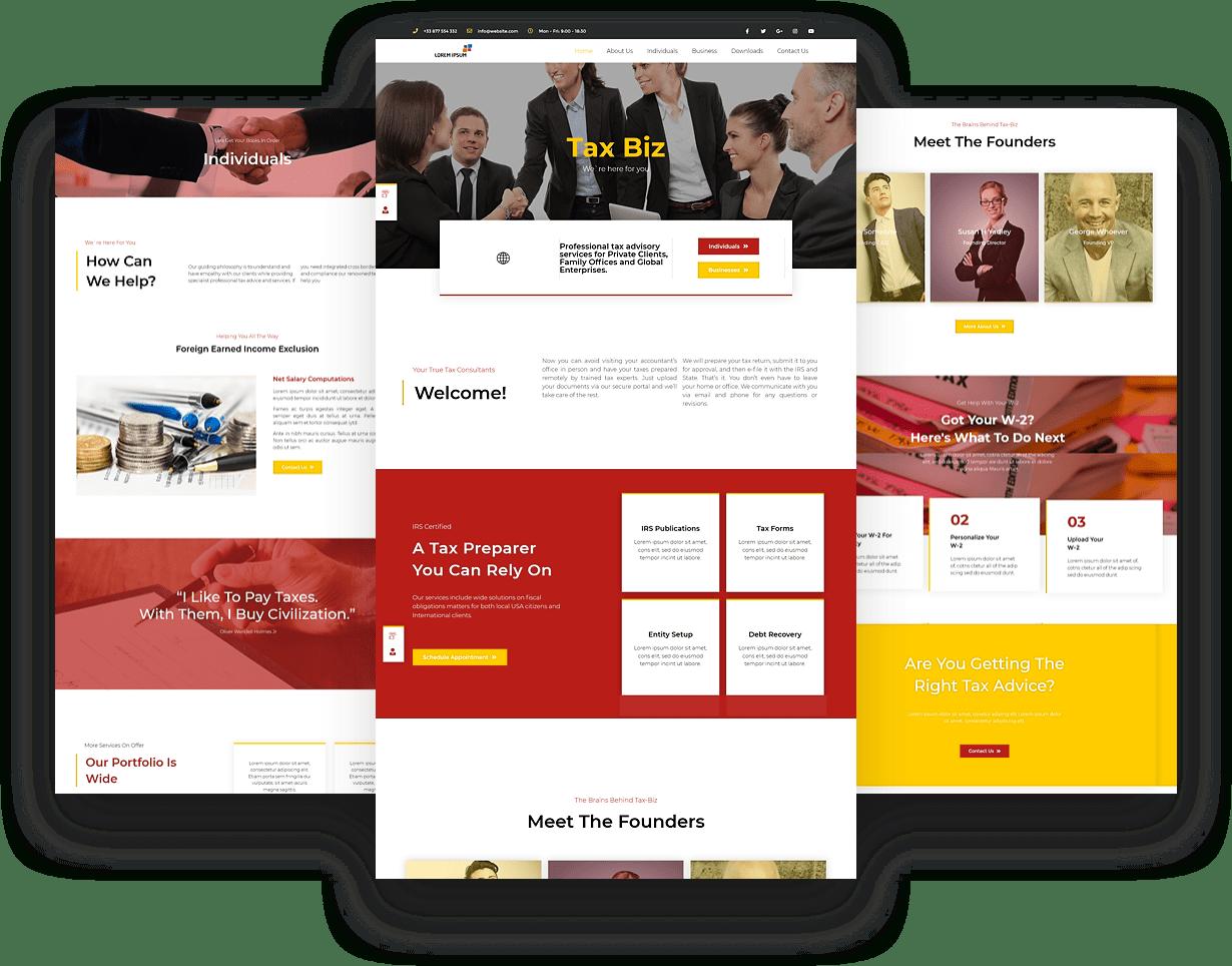 Tax Business Website Design