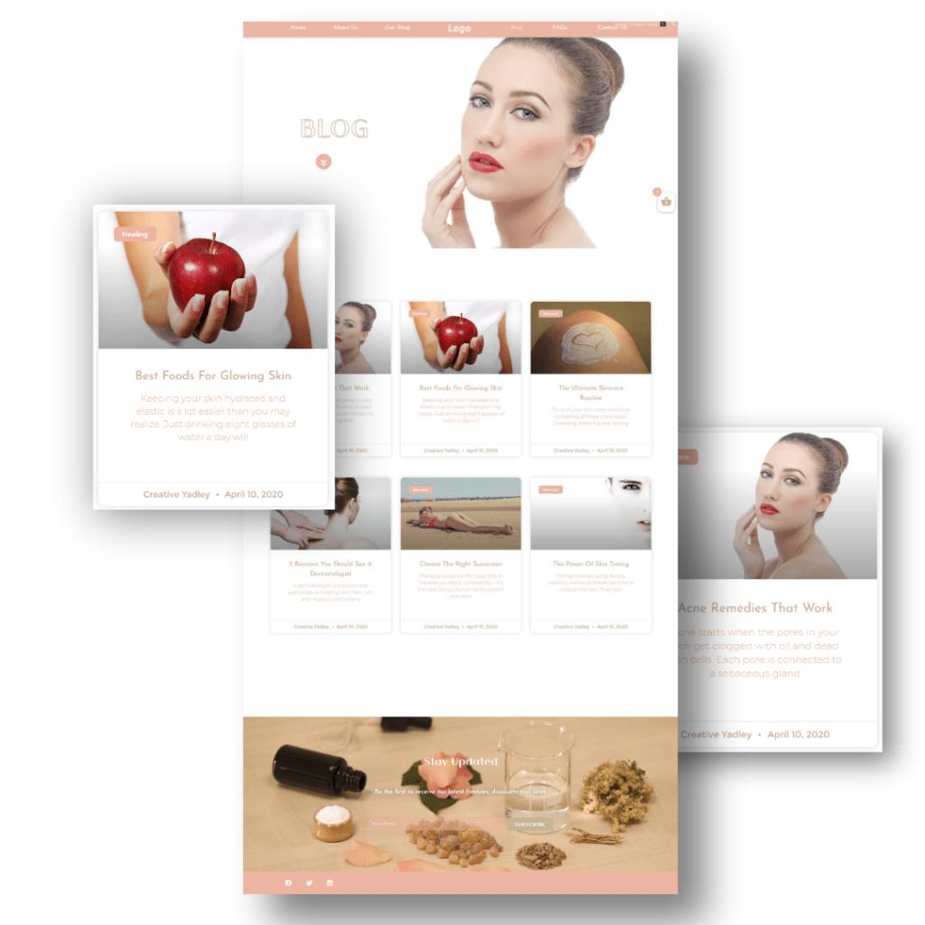 Skincare Website Inspiration