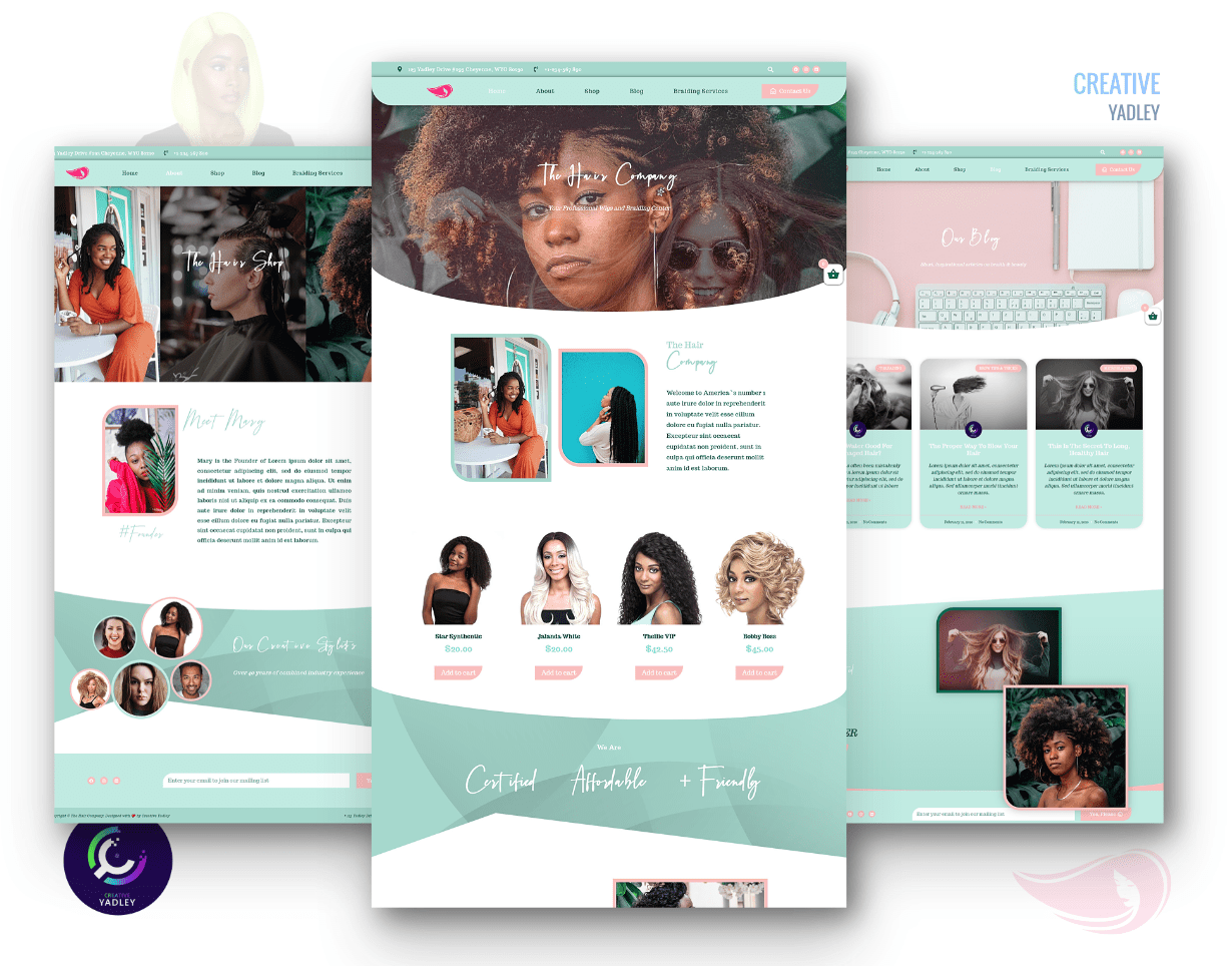 Modern Hair Website