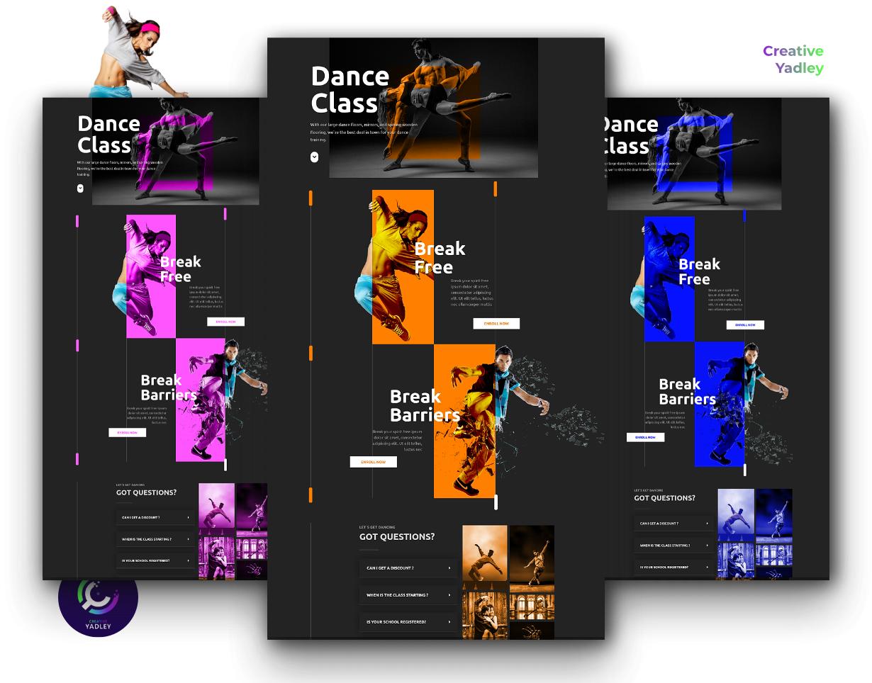 Dance Class website screenshot