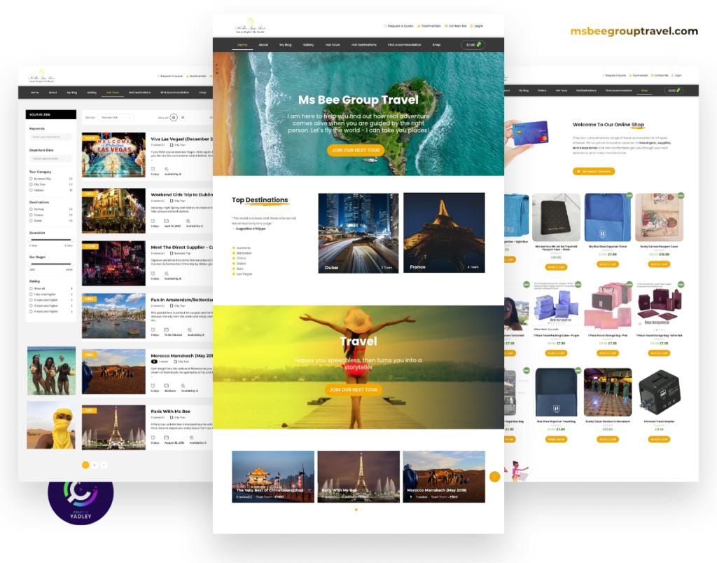 Ms. Bee Group Travel Website Screenshot